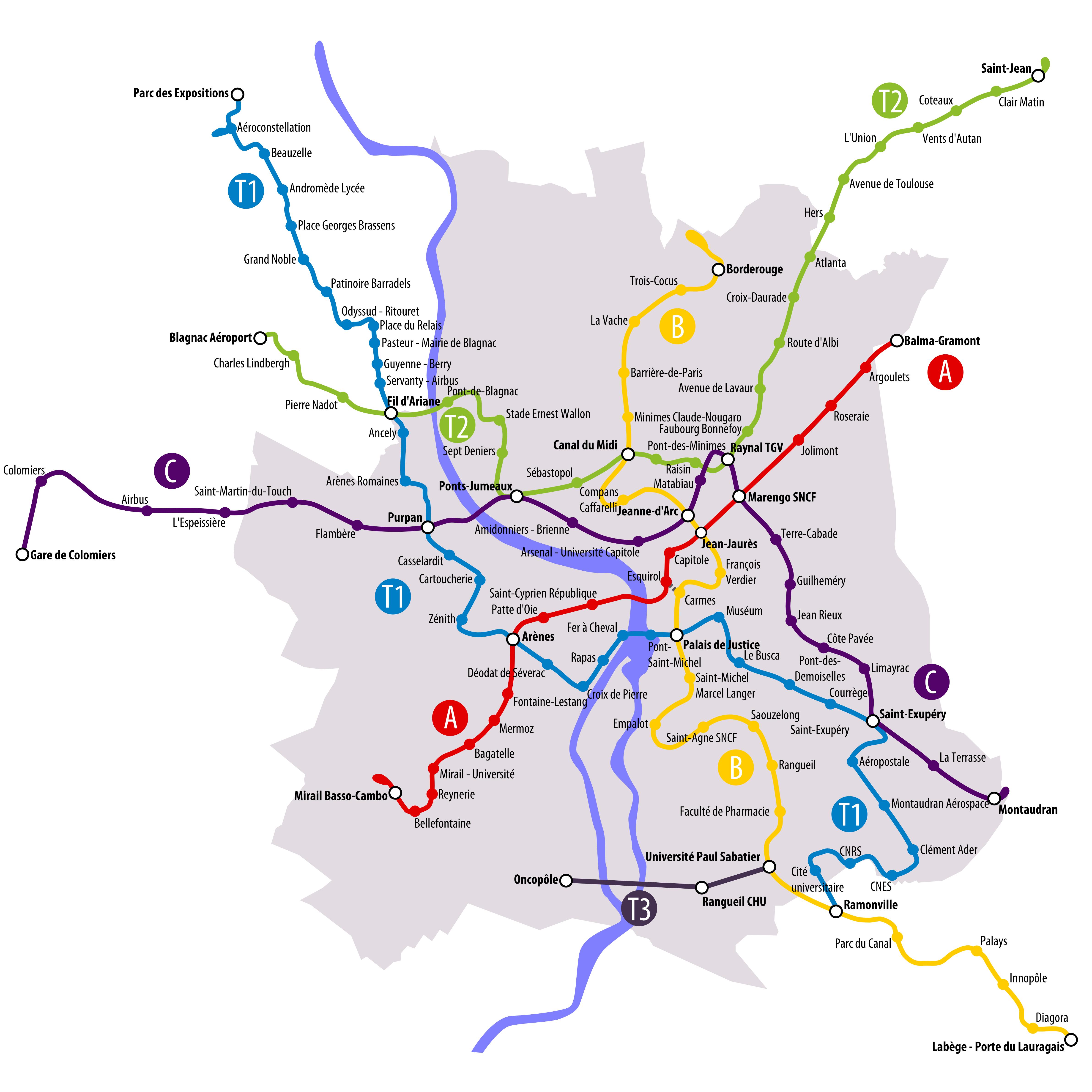 Toulouse : Quel est le tracé de la 3ème ligne de métro ?   Maisons